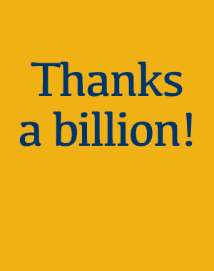 Supporting image for article on Thanks a billion!